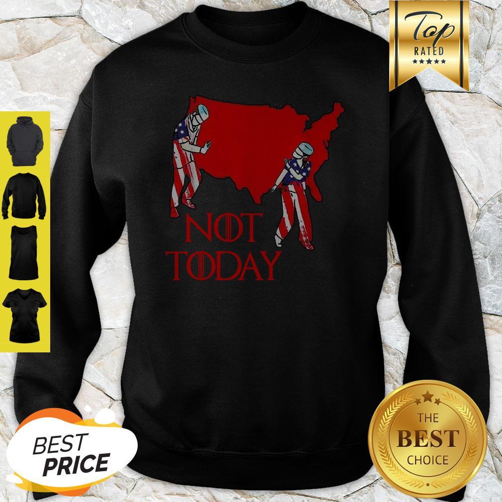 America Map Nurse Not Today Coronavirus Sweatshirt