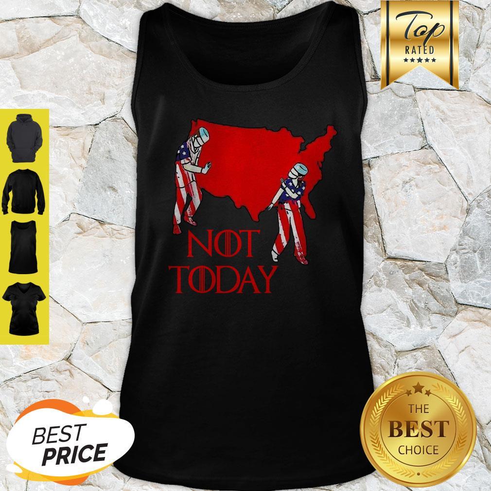 America Map Nurse Not Today Coronavirus Tank Top