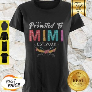 Awesome Promoted To Mimi Est 2020 Mothers Day Gift New Grandma Mama Shirt