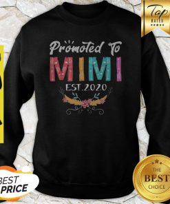 Awesome Promoted To Mimi Est 2020 Mothers Day Gift New Grandma Mama Sweatshirt