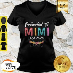 Awesome Promoted To Mimi Est 2020 Mothers Day Gift New Grandma Mama V-neck