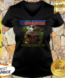 Baby Yoda Real Canadian Superstore Survived Covid-19 2020 V-neck