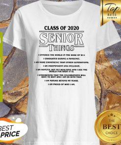 Class Of 2020 Senior Things Stranger Things Coronavirus Shirt