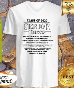 Class Of 2020 Senior Things Stranger Things Coronavirus V-neck
