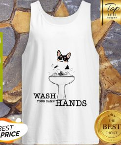 Corgi Wash Your Damn Hands Coronavirus Tank Top