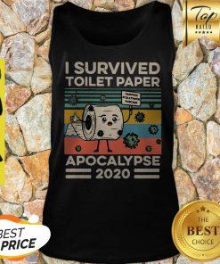 I Survived Toilet Paper Apocalypse 2020 Coronavirus Vintage Tank Top