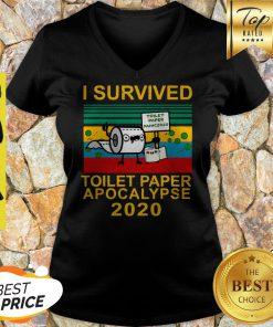 I Survived Toilet Paper Apocalypse 2020 ShirtI Survived Toilet Paper Apocalypse 2020 V-neck
