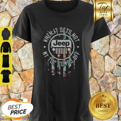Jeep Logo When It Gets Hot My Top Comes Off American Flag Shirt