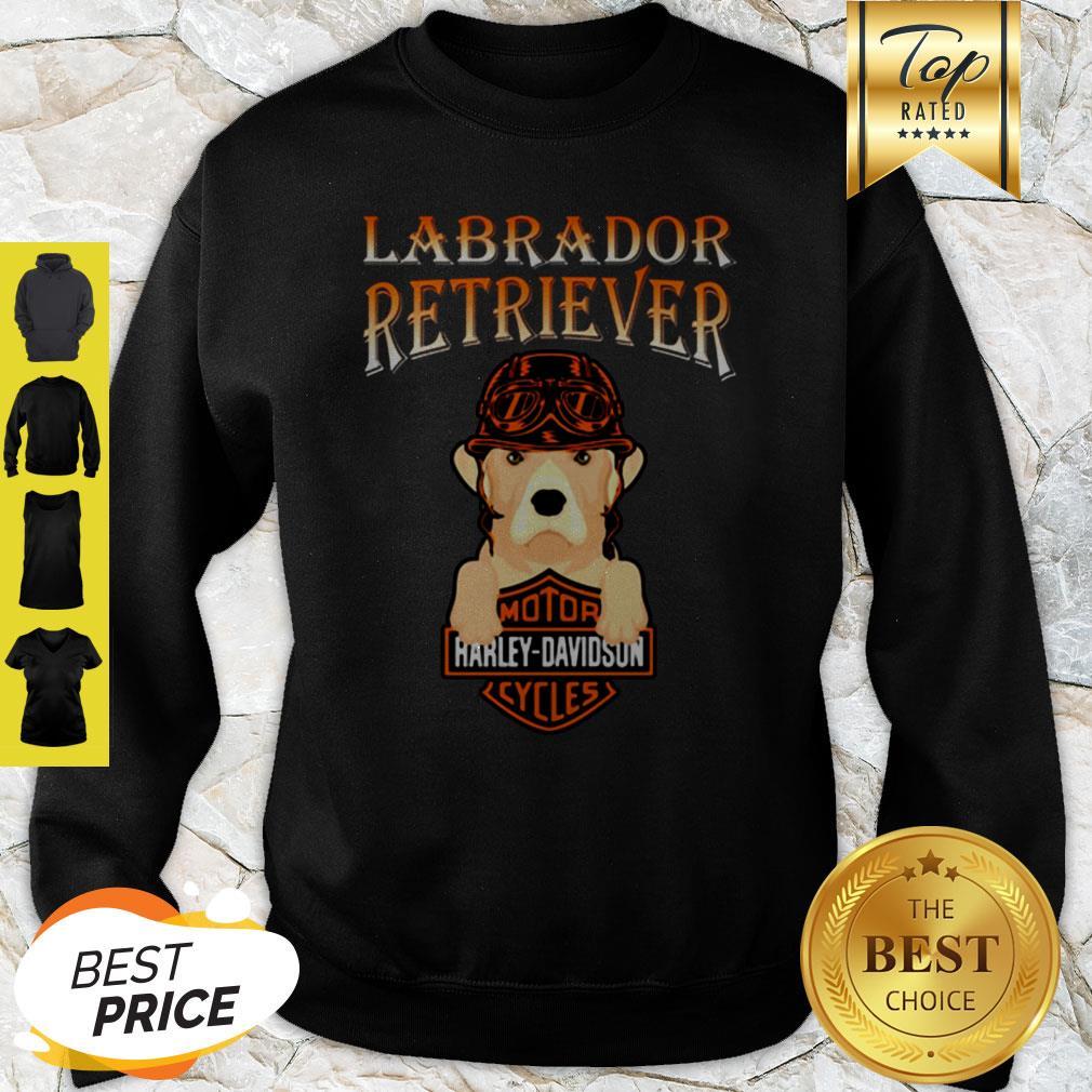 Labrador Retriever Mashup Motor Harley Davidson Cycles Sweatshirt
