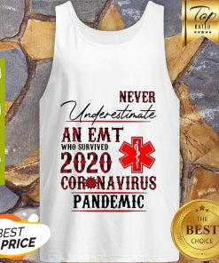 Never Underestimate An EMT Who Survived 2020 Coronavirus Pandemic Tank Top