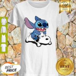 Nice A Friend For Life Stitch And Snoopy Shirt