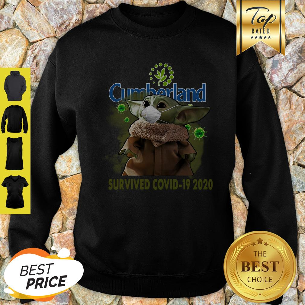 Nice Baby Yoda Cumberland Farms Survived Covid-19 2020 Sweatshirt