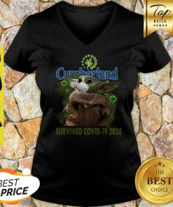 Nice Baby Yoda Cumberland Farms Survived Covid-19 2020 V-neck