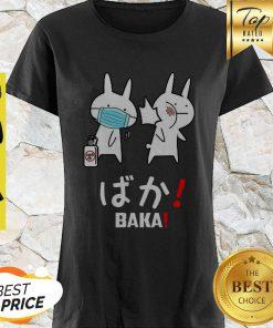 Nice Baka Rabbit Japanese Coronavirus Shirt