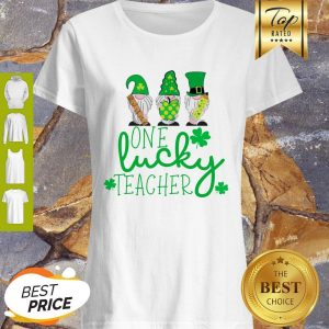 Nice St Patrick's Day Gnome One Lucky Teacher Shirt