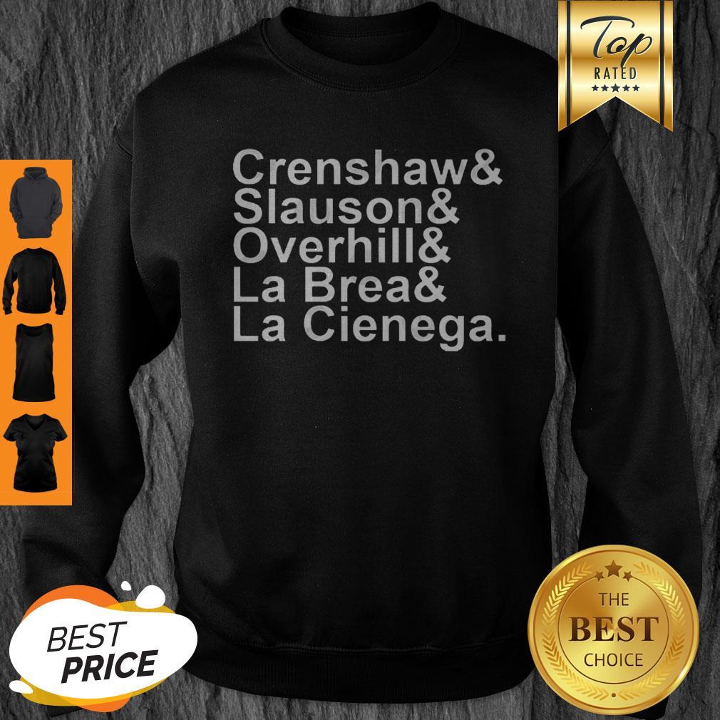 Rip Nipsey Hussle Crenshaw Slauson Overhill La Brea La Cienega Sweatshirt