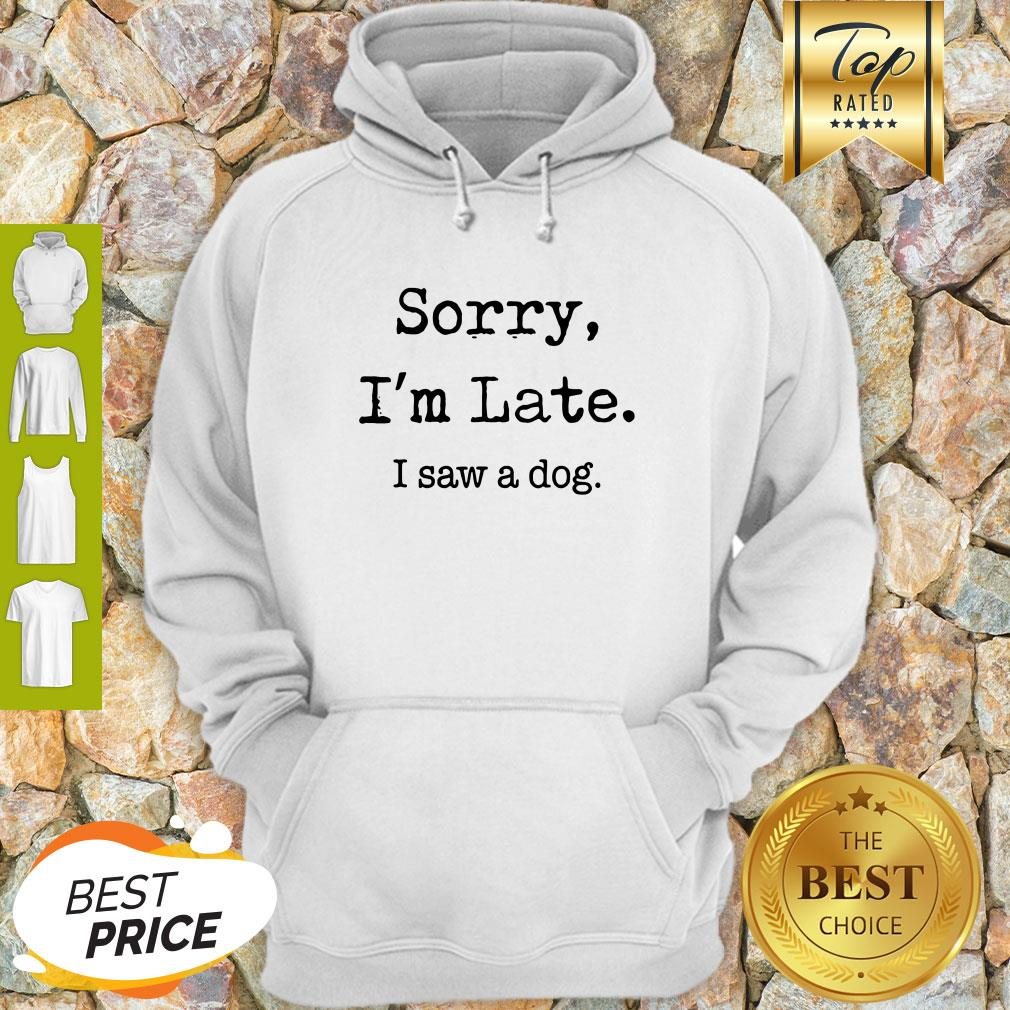 Sorry I'm Late I Saw A Dog Funny Dog Lovers Funny Hoodie