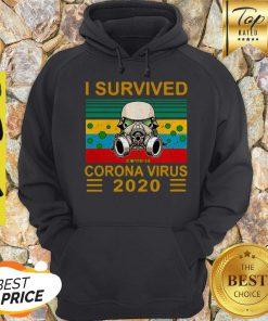 Stormtrooper I Survived Covid-19 2020 Vintage Hoodie