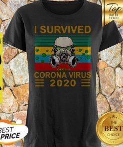 Stormtrooper I Survived Covid-19 2020 Vintage Shirt