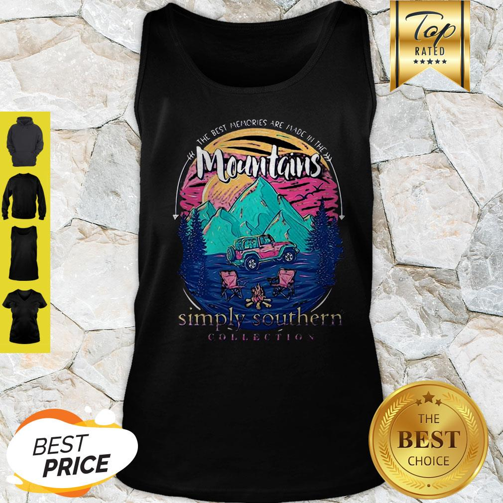 The Best Memories Are Made In The Mountains Tank Top