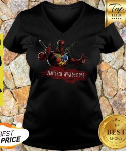 When All The Pieces Fit Together Autism Awareness Deadpool V-neck