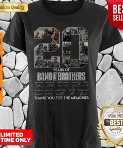20 Years Of Band Of Brother Signature Thank You For The Memories Shirt