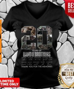 20 Years Of Band Of Brother Signature Thank You For The Memories V-neck