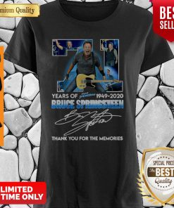 71 Years Of Bruce Springsteen 1949-2020 Thank You For The Memories Signature Shirt
