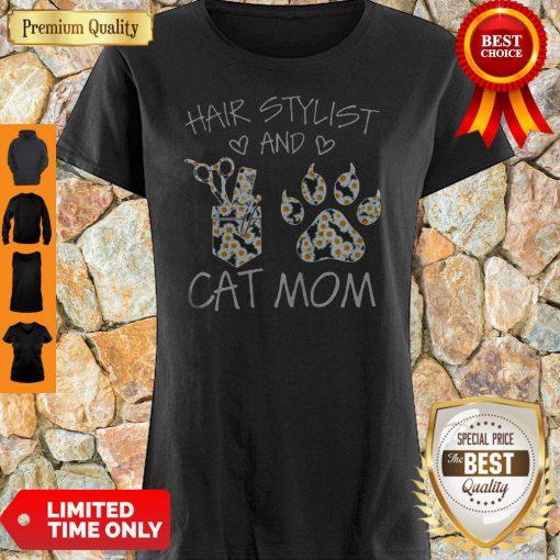 Daisy Hair Stylist And Cat Mom Shirt