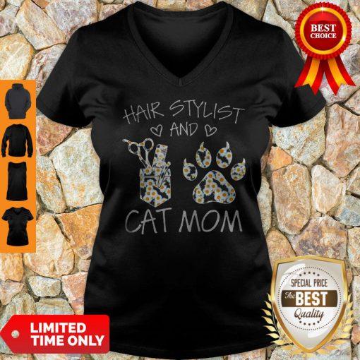 Daisy Hair Stylist And Cat Mom V-neck