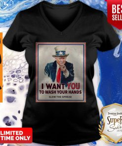 Donald Trump I Want You To Wash Your Hands Slow The Spread V-neck
