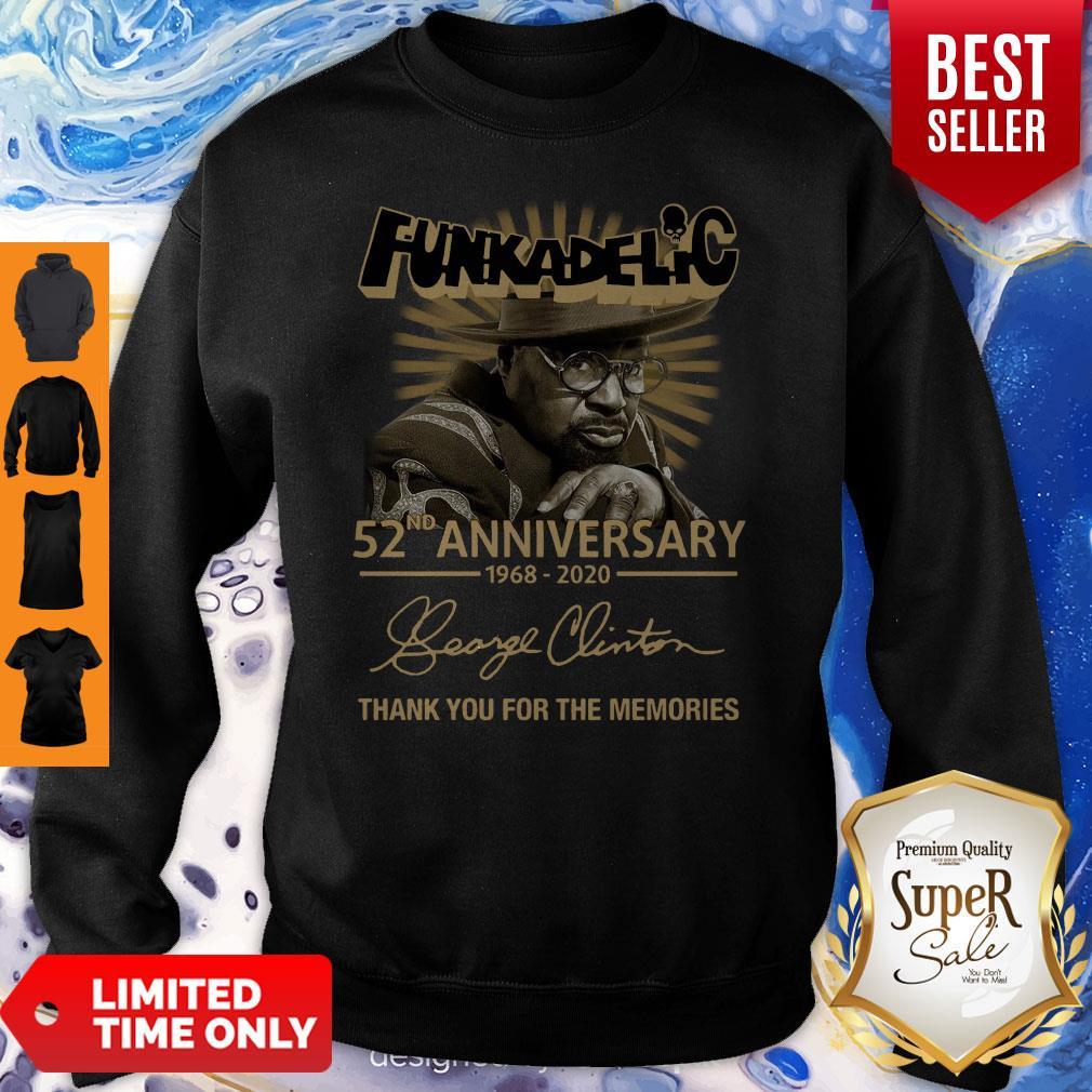 Funkadelic 52nd Anniversary Thank You For The Memories Signature Sweatshirt