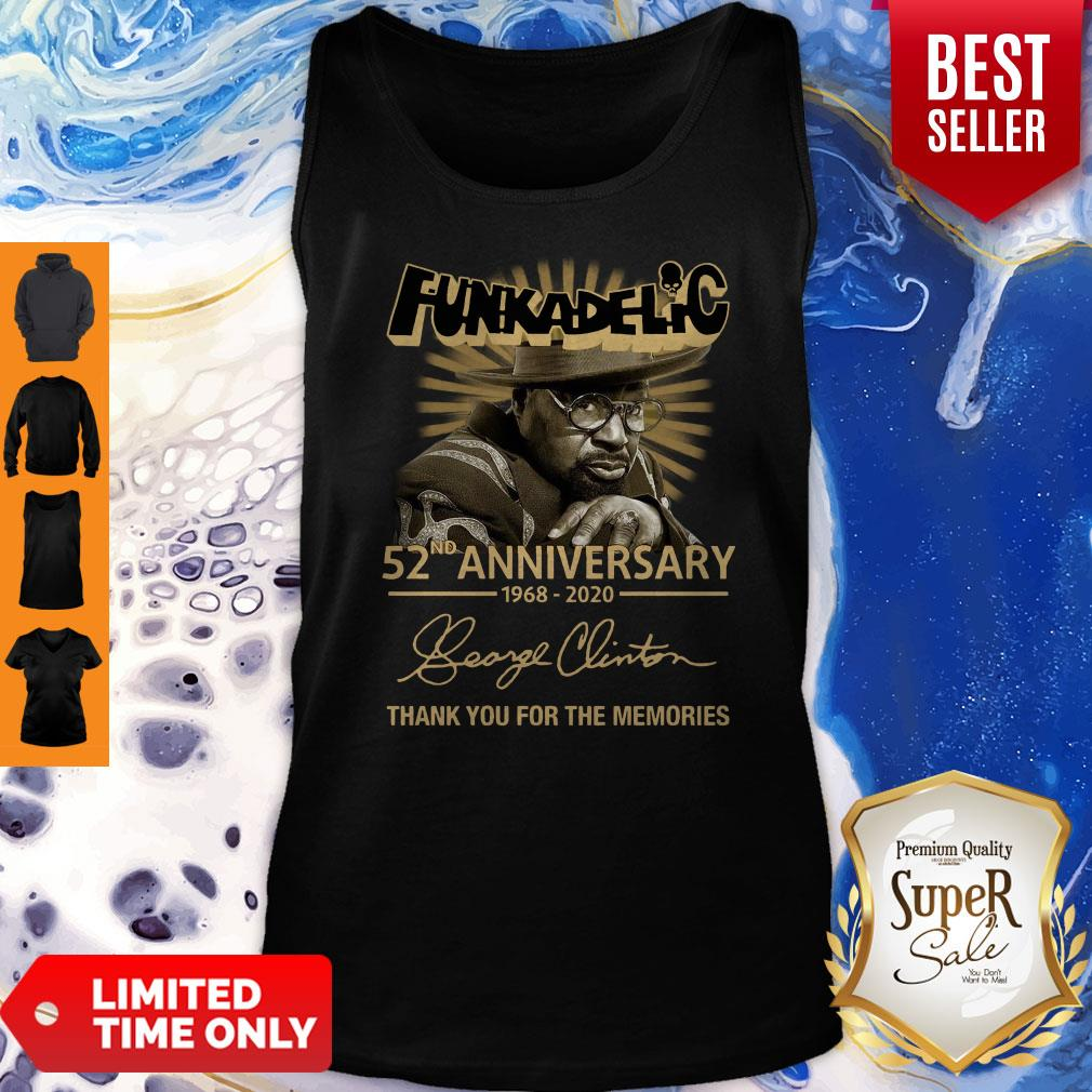 Funkadelic 52nd Anniversary Thank You For The Memories Signature Tank Top