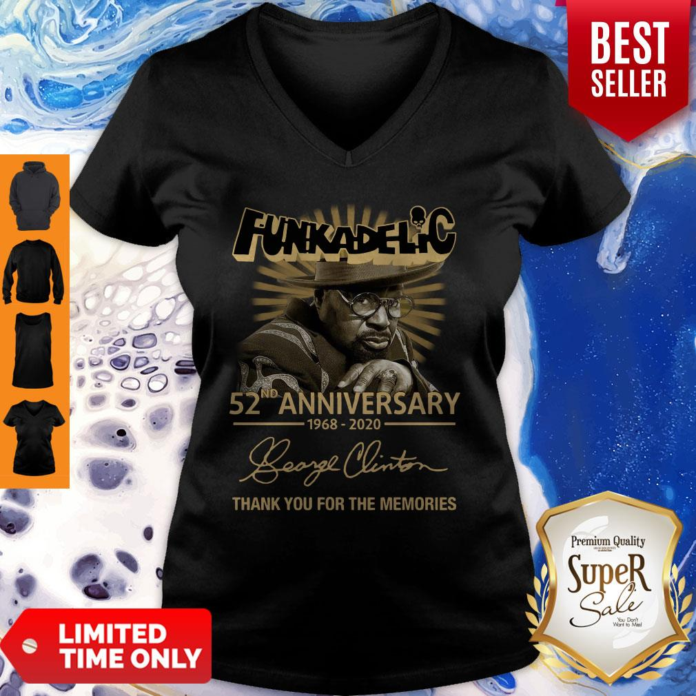 Funkadelic 52nd Anniversary Thank You For The Memories Signature V-neck