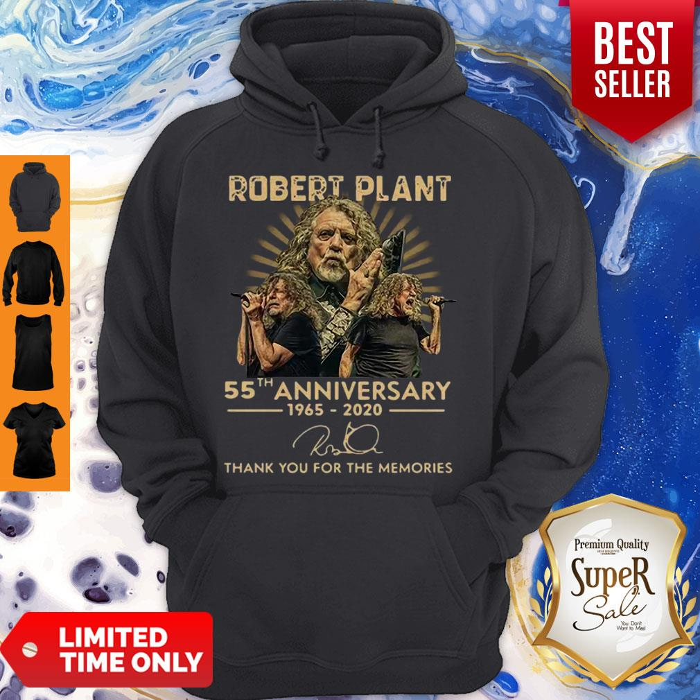55th Anniversary 1965-2020 Robert Plant Signature Hoodie
