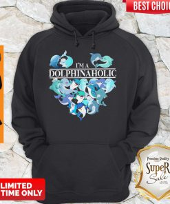 Official I'm A Dolphin Aholic Heart Hoodie