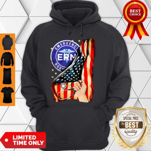 Official Emergency Room And American Flag Hoodie