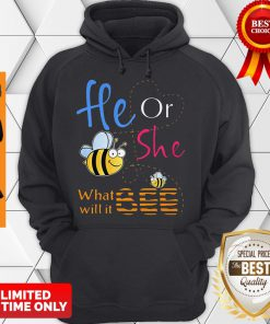 Official He Or She What Will It Bee Gift Hoodie