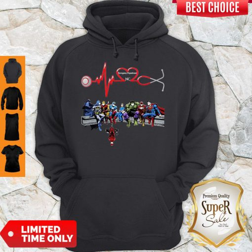 Nurse And Super Hero Emergency Department NC Hoodie