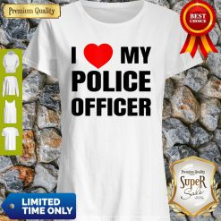 I Love My Police Officer Red Heart Policeman Policewoman Shirt