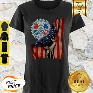 International Association Of Machinists And Aerospace Workers American Flag Shirt