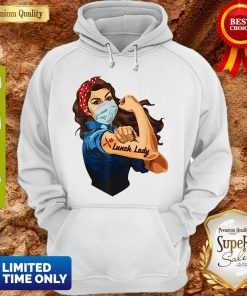 Nice Strong Girl Tattoo Lunch Lady Hoodie