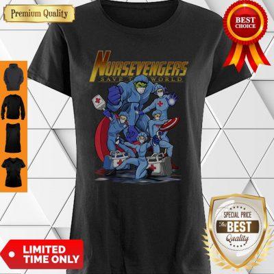 Nursevengers Save The World Medical Superhero Shirt