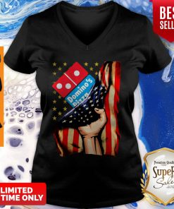 Official Domino's Pizza America Flag V-neck
