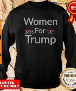 Official Women For Trump 2020 45 Sweatshirt