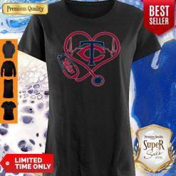 Perfect Minnesota Twins Baseball Stethoscope Heartbeat Shirt