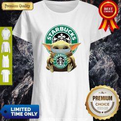 Original Baby Yoda Face Mask Hug Starbucks Coffee Shirt