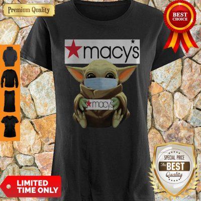 Original Baby Yoda Face Mask Hug Macys Shirt