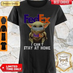Pretty Baby Yoda Face Mask Hug FedEx I Can't Stay At Home Shirt