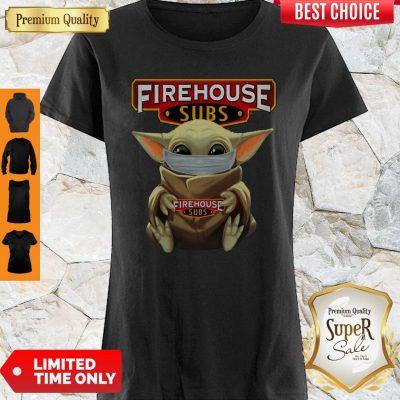Original Baby Yoda Face Mask Hug Firehouse Subs Shirt